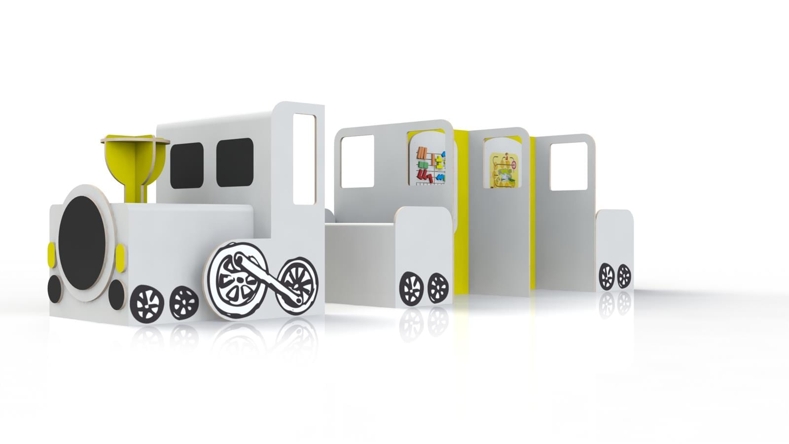 kidea crée des jeux pour enfants sur mesure comme ce train original
