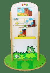 Une plv dynamique et originale avec ce jeu pour enfants imaginé par Ponny.