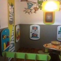 aménagement espace enfant dans un restaurant