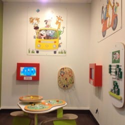 espace enfant dans un restaurant
