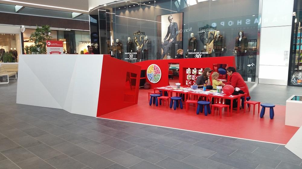 Espace Enfant sur mesure créé par Epicure Studio et fabriqué et installé par KIDEA Concept