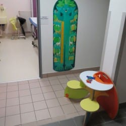 coin enfants dans une salle d'attente