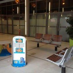 petit espace pour les enfants dans une gare