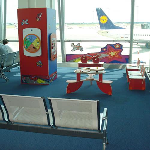 Zone d'attente pour enfants - aéroport