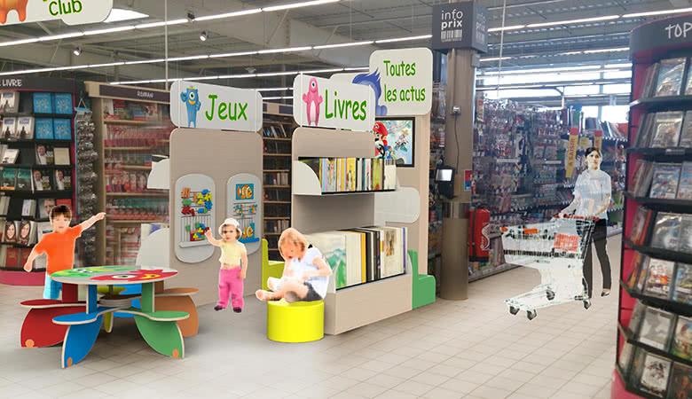 Zone enfants centre commercial