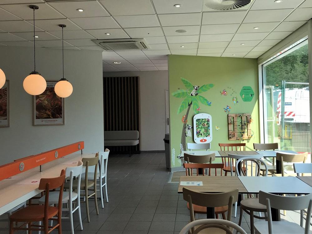 aménagement coin enfant restaurant